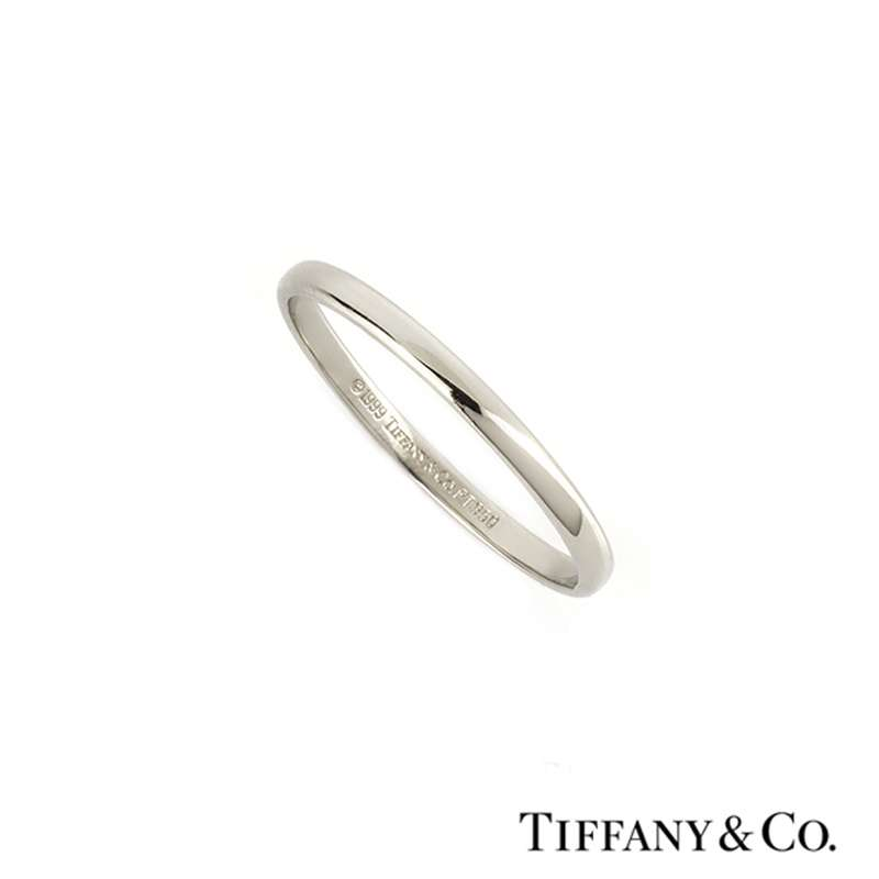 Tiffany & Co Lucida Wedding Band in Platinum